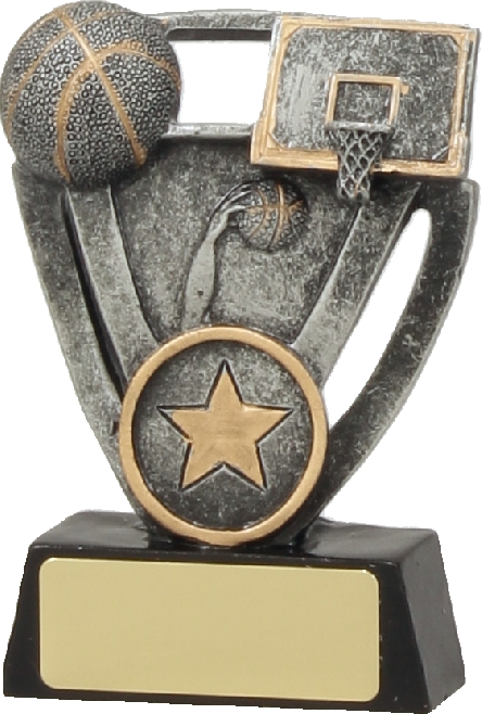 12734S Basketball trophy 100mm