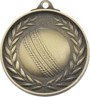 MX810G Cricket Medal 50mm New 2015