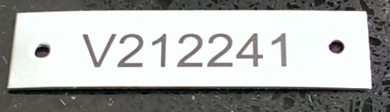 Label Stainless 25x50mm SS2550