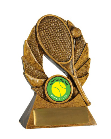 bronze tennis trophy awarded at Perth trophy awards