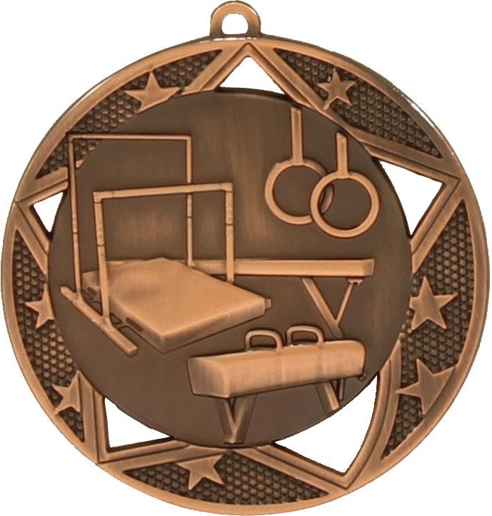 Gymnastics Medal MQ914B 70mm