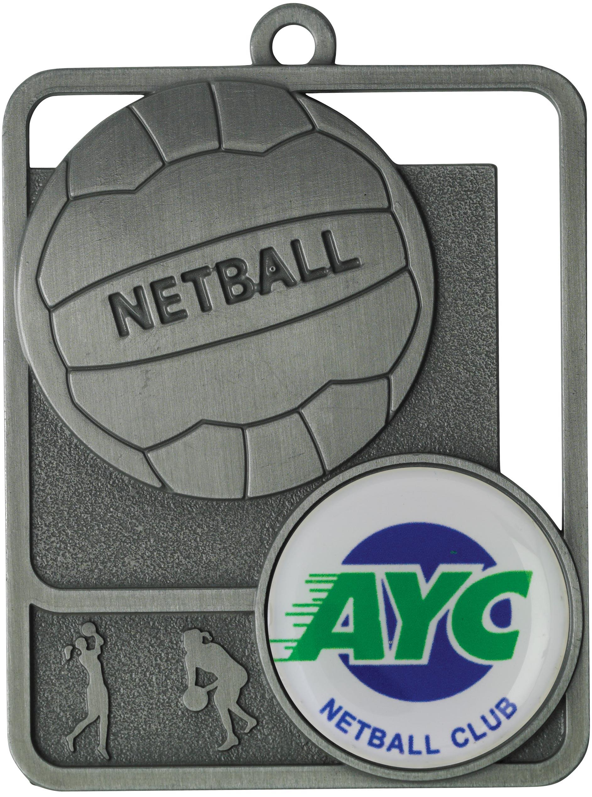 Netball Medal MR811S 61mm