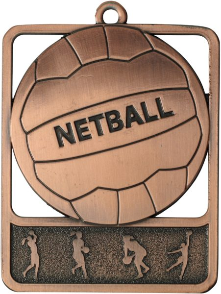 Netball Medal MR911B 61mm
