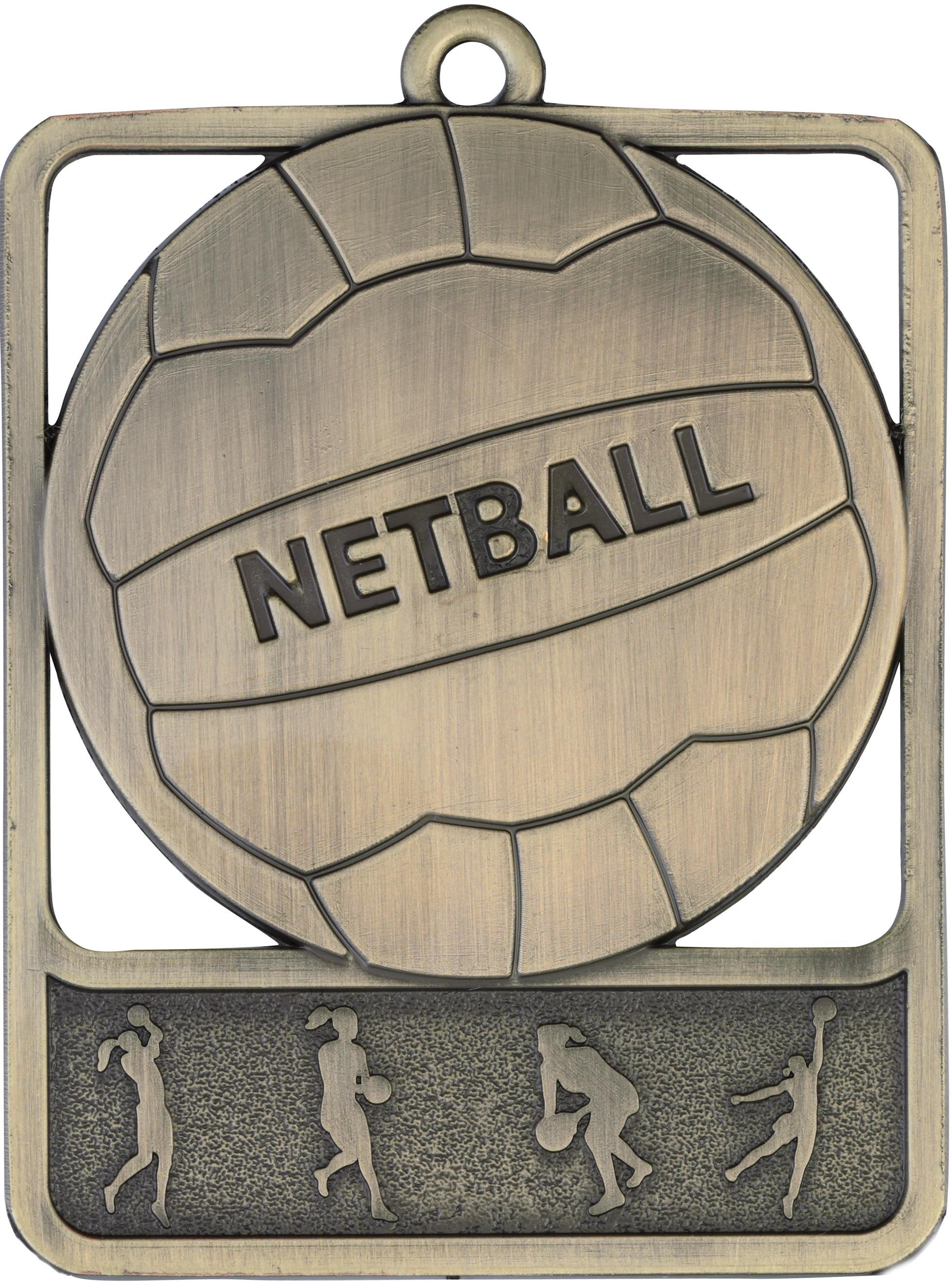 Netball Medal MR911G 61mm