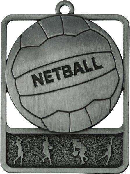 Netball Medal MR911S 61mm