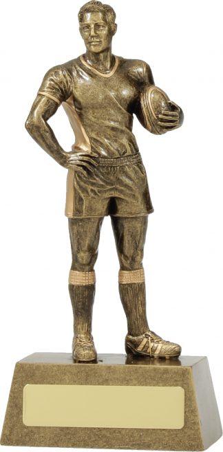 11713B Rugby trophy 190mm