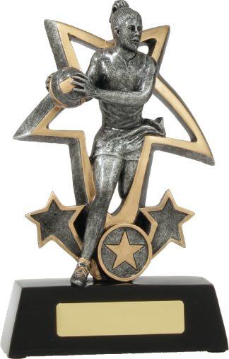 12491L Netball trophy 195mm
