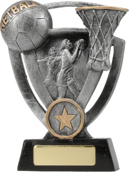 12737L Netball trophy 127mm