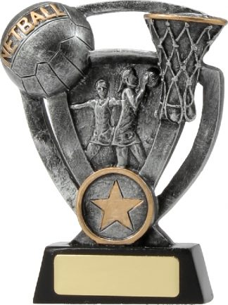 12737M Netball trophy 127mm
