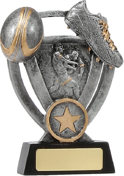 12739M Rugby trophy 130mm