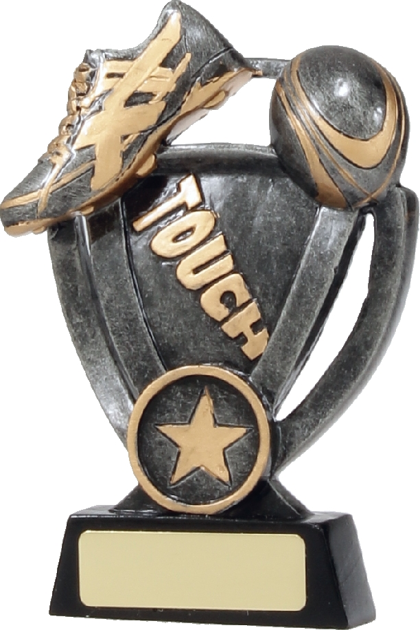 12742M Touch Football trophy 140mm