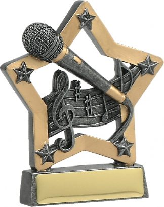 12921 music trophy 129mm