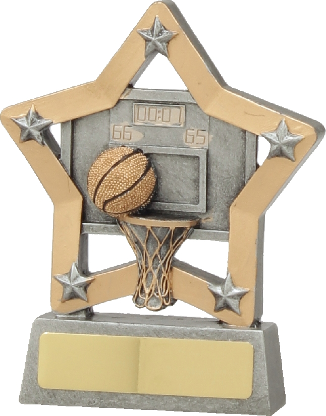 12934 Basketball trophy 129mm