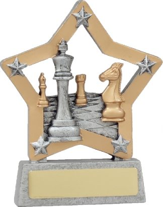 12978 Chess - Cards trophy 130mm