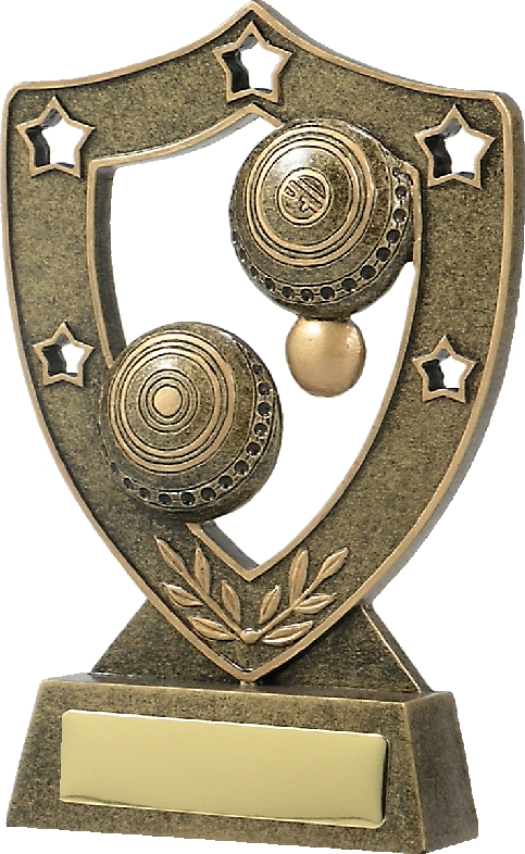 13583 Lawn Bowls trophy 130mm