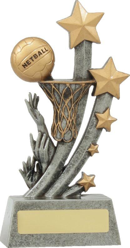 21037D Netball trophy 210mm