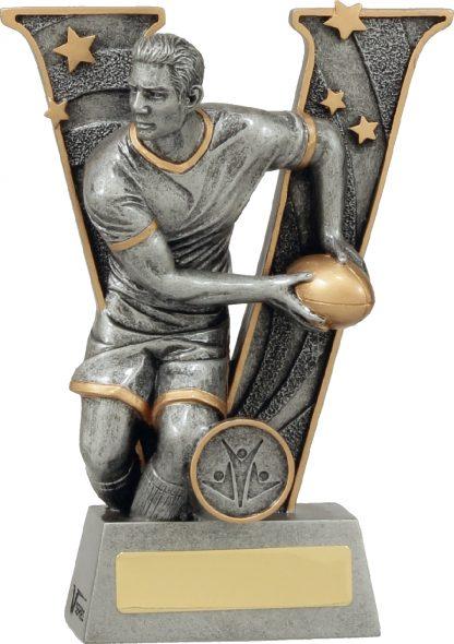 21413B Rugby trophy 185mm