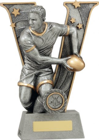 21413D Rugby trophy 240mm