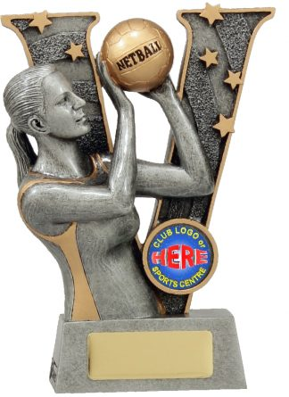 21491A Netball trophy 155mm