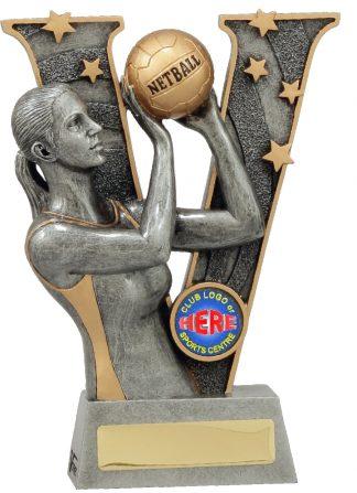 21491B Netball trophy 185mm