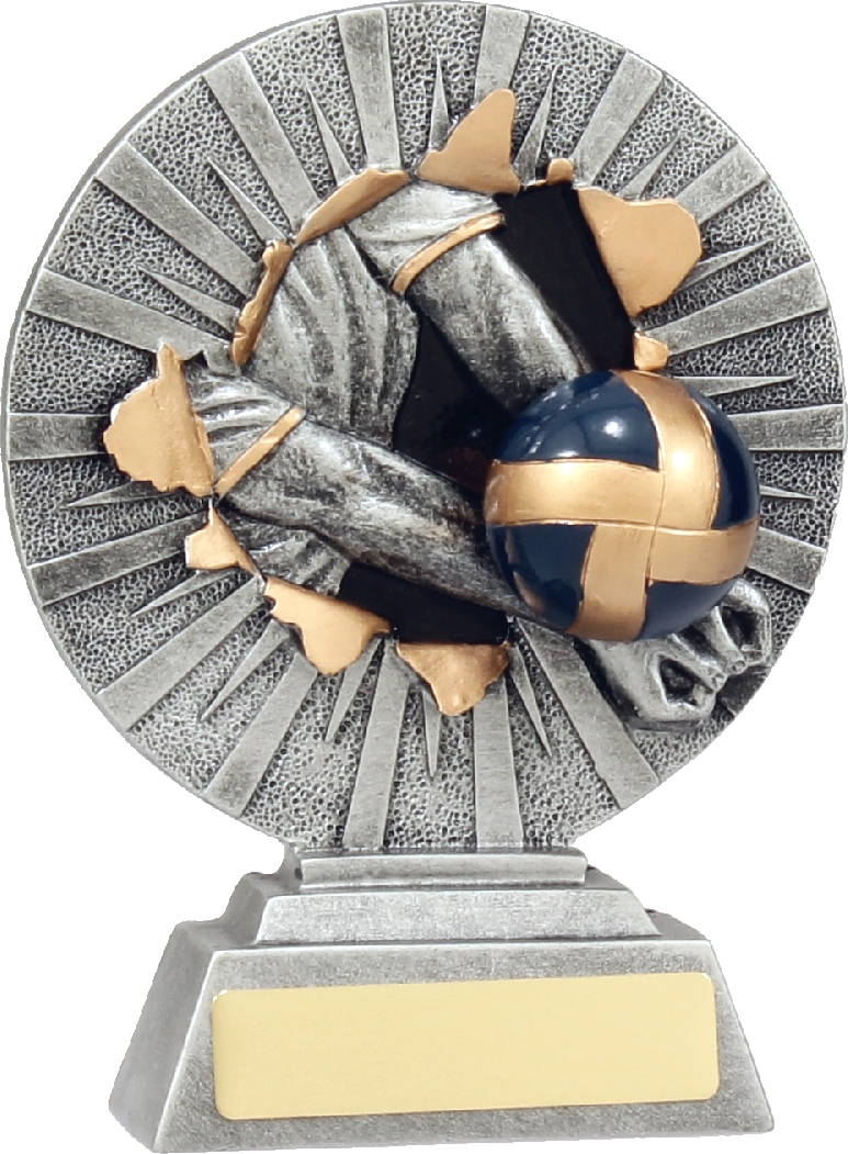 22127B Volley Ball trophy 160mm