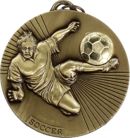 M025G Soccer trophy 50mm