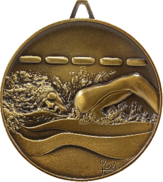 M9202 Swimming trophy 64mm