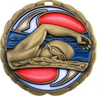 MS902G Swimming trophy 65mm