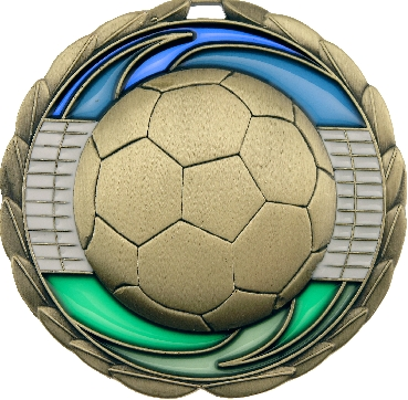 MS904G Soccer trophy 65mm
