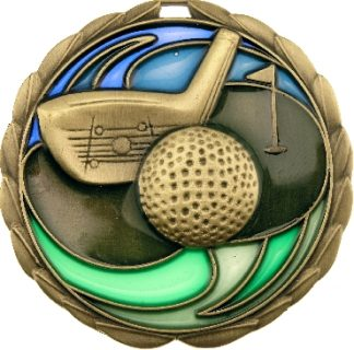 MS909G Golf trophy 65mm