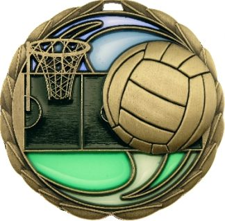 MS911G Netball trophy 65mm