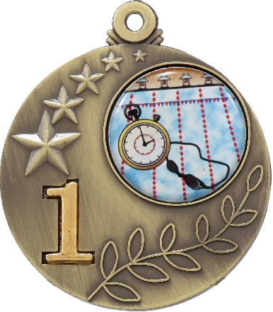 MT01G Medals and keyrings trophy 50mm