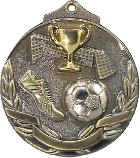 MT904G Soccer trophy 50mm