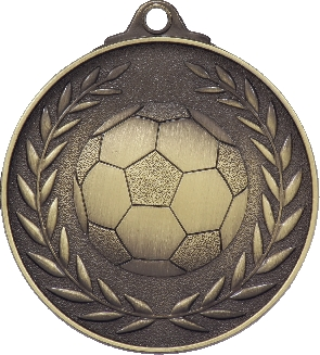 MX804G Soccer Medal 50mm New 2015