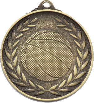 MX807G Basketball Medal 50mm New 2015