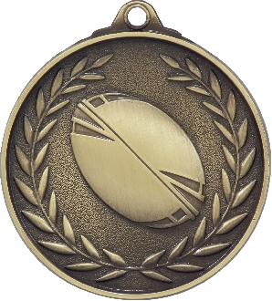 MX813G Rugby Medal 50mm New 2015