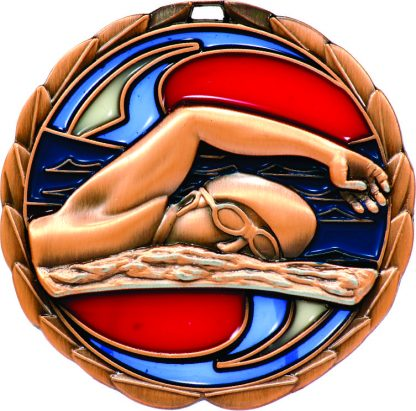 Swimming Medal MS902B 65mm