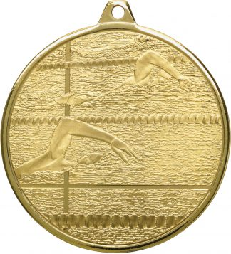 Swimming Medal MZ902G 50mm