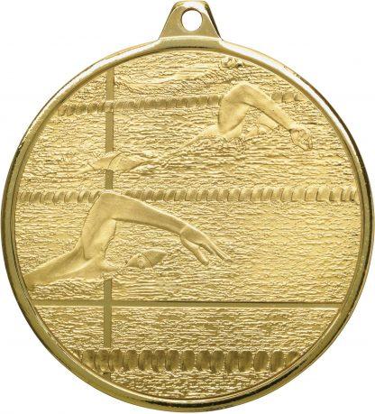 Swimming Medal MZ902G 50mm