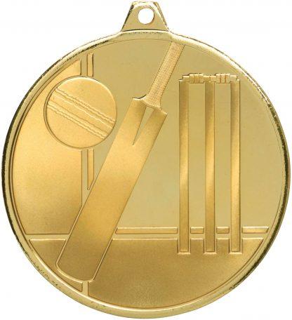 Cricket Medal MZ910G 50mm