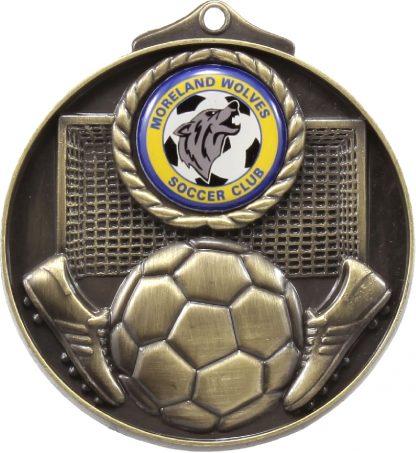 Soccer Medal M080G 69mm