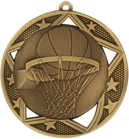 Basketball Medal MQ907G 70mm