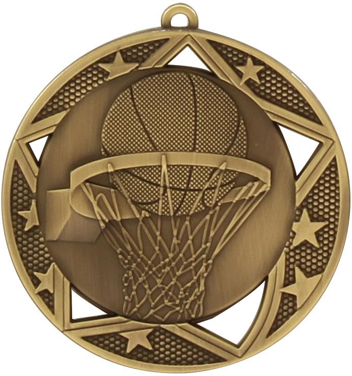 Basketball Medal MQ907G 70mm