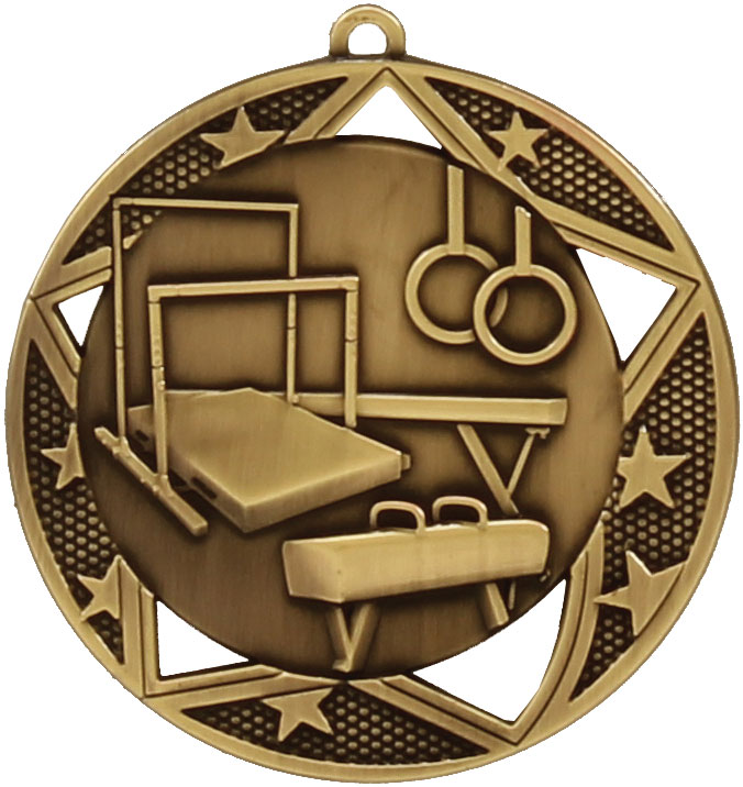 Gymnastics Medal MQ914G 70mm