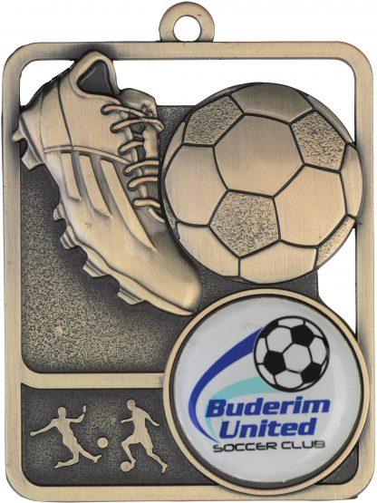 Soccer Medal MR804G 61mm