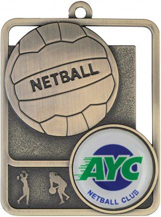 Netball Medal MR811G 61mm
