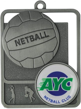 Netball Medal MR811S 61mm