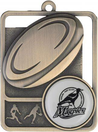 Rugby Medal MR813G 61mm