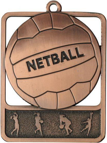 Netball Medal MR911B 61mm