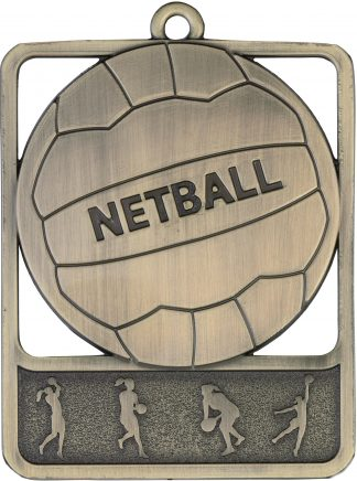 Netball Medal MR911G 61mm